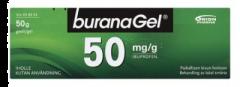 BURANAGEL 50 mg/g geeli 50 g