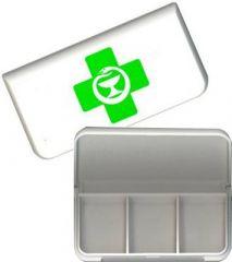 Minidosetti vihreä risti-logolla, 3 lokeroa X1 kpl
