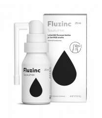 Apteq Fluzinc suusuihke salmiakki 25 ml