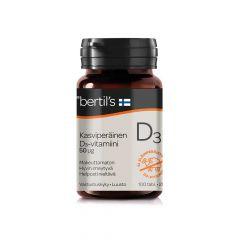 bertils Kasviper. D3-vitamiini 50 mikrog 100 tabl